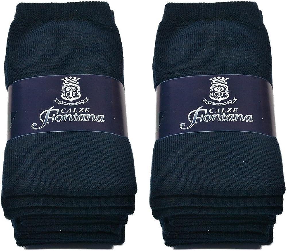 35//41 6 paia di calzini DONNA in cotone 100/% in vari colori taglia unica Fontana Calze Prodotto italiano.