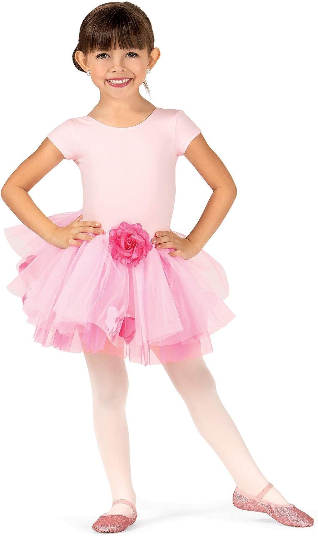 La Petite Ballerina Child Rose Tutu Skirt with Petals SK596