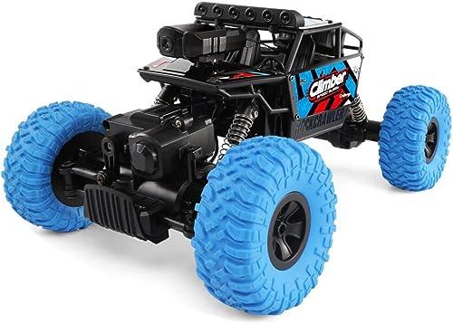 RC Allradantrieb Rennwagen, mamum JJRC Q45 rnbedienung Auto 4  HD Kamera Wifi FPV 1  18 4 Offroad RC Auto Spielzeug rot blau EinheitsGröße blau