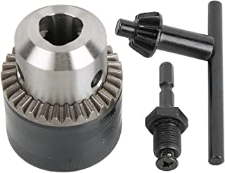 iFCOW Drill Chuck 3.0-16MM 1//2-20UNF Drill Chuck Adapter Kit Key Type Drill Chuck with Hex Head Adapter Hex Shank Drill Chuck