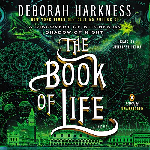 The Book of Life     All Souls, Book 3              Written by:                                                                                                                                 Deborah Harkness                               Narrated by:                                                                                                                                 Jennifer Ikeda                      Length: 23 hrs and 53 mins     114 ratings     Overall 4.7