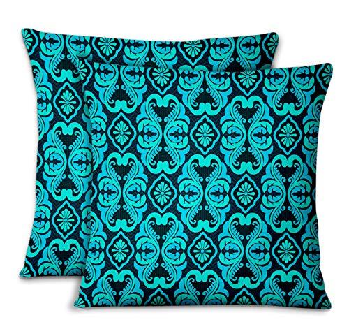S4Sassy Orange Popeline de Coton fleurir taies d'oreiller chambre'coucher Design Housse de Coussin Jeter pour la Maison 2pièces-22 x 22 Pouces