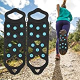Bilibilidage Fundas antideslizantes de silicona para zapatos de senderismo, pesca, caminar, escalada de montaña, viajes al aire libre (tamaño del zapato: M)