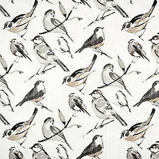 Richloom Birdwatcher Charcoal Fabric - By the Yard