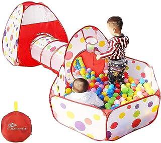 Jasonwell 3 en 1 Interiores Casas Jardin niños Casas Túnel para niños Casas para niños Casas de Niños Interiores y Tiendas...