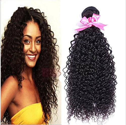 Meylee Postiches Abdelkrim malaisien humains cheveux crépus bouclés cheveux/rallonges à bandes cousues 3Bundles/pack , 20 22 24