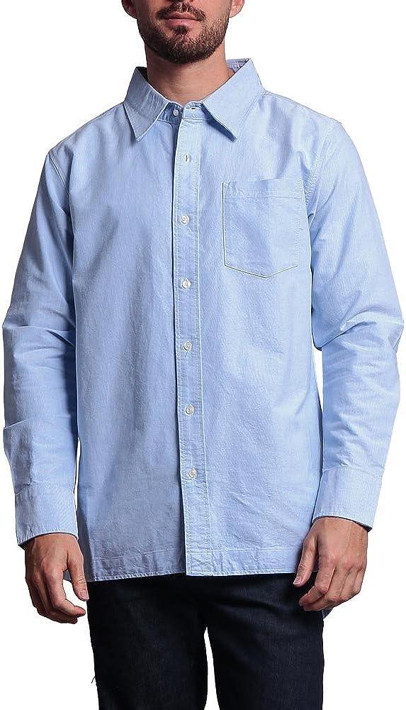 Victorious Elongated Fishtail Oxford Button Up Shirt SH457 - L7E