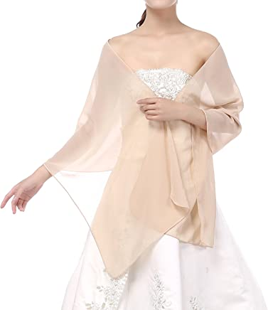 cea0f796b1 Soffte Cloud Sheer Chiffon Women Evening Shawls and Wraps for Dresses