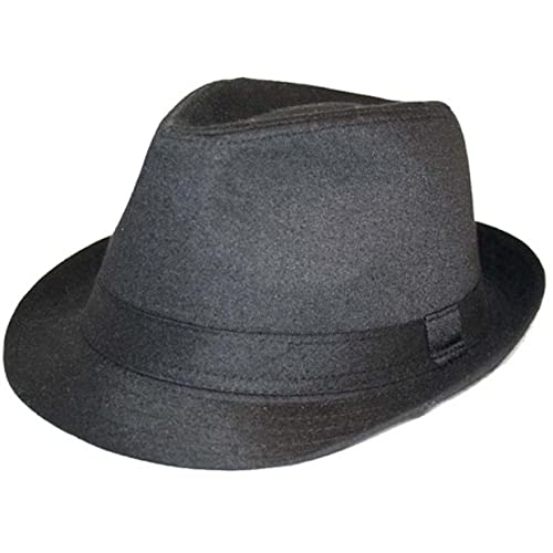 VIZ-UK WEAR Black Trilby Hat 5da4ab0be05