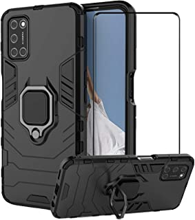 2ndSpring Case for OPPO A52/A72/A92 with Tempered Glass Screen Protector,Hybrid Heavy Duty Protection Shockproof Defender ...
