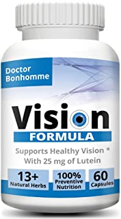 Longevity Vision Formula with Anthocyanidin - Active Compound of Bilberry, Lutein & 13+ standardized Herbal extracts, Prem...