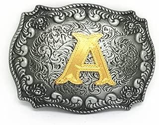 Adult Mens Initial Letters Western Cowboy Alphabet Rodeo Belt Buckle