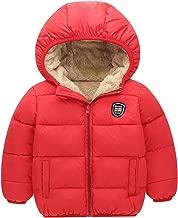 Boys Girls Winter Thick Jacket Warm Fleece Fur Lining Zipper Hooded Windproof Coat Outwear for 2-7 Years