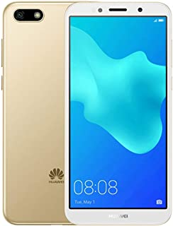 """Huawei Y5 2018 DRA-L23 Dual SIM FullView Display 5.45"""" 4G LTE Quad Core 16GB 8MP Smartphone Factory Unlocked Android GO (International Version- No Warranty) (Gold)"""