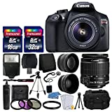 Canon EOS Rebel T6 Digital SLR Camera with 18-55mm EF-S f/3.5-5.6 is II Lens + 58mm Wide Angle Lens + 2X...