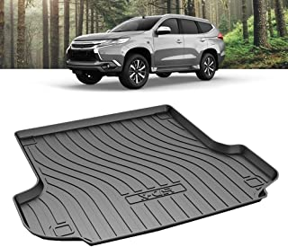 X-CAR Heavy Duty Waterproof Cargo Rubber Mat Boot Liner Luggage Tray Compatible with Mitsubishi Pajero Sport 5 and 7 Seate...