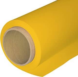Huamei Seamless Photography Background Paper, Photo Backdrop Paper (8.9x36 Feet, Yellow)