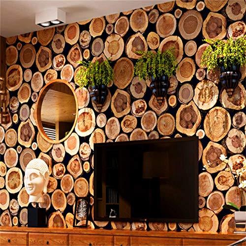 Tapete Wandaufkleber Brauner Baumstamm Wandtattoo Papier Tapete für Wohnzimmer Schlafzimmer Büro Tv Hintergrundbild 0.53X10M