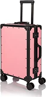 """COTRUNKAGE Hardside Aluminum Frame Spinner Wheels Carry On Luggage with TSA Lock (20"""", Pink)"""