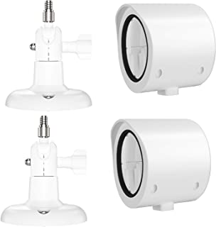 Andoer 2Pack Outdoor Wall Mount Only compatible with goo-gle Nest Cam Indoor 360 Degree Swivel Bracket Holder Waterproof C...