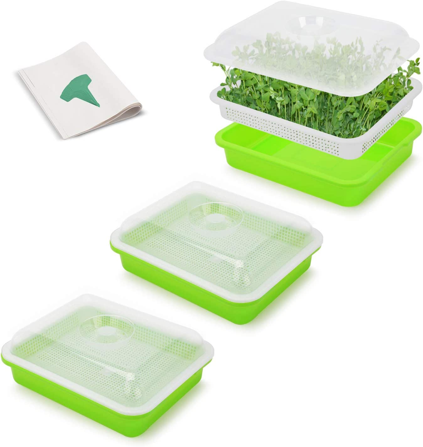 GROWNEER Sales results No. 1 6 store Packs Seed Sprouter with Trays Germination Tray
