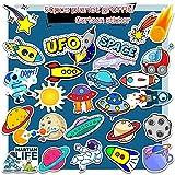 PMSMT 50 шт. Космическая планета граффити стикер астронавт весело мультфильм скейтборд холодильник гитара украшения водонепроницаемый детская игрушка стикер