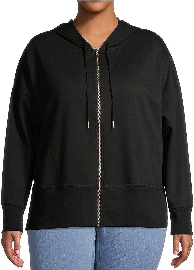 Terra & Sky Black Soot Plus Size Full Zip Fleece Hoodie