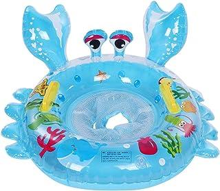 Big Summer Inflatable Baby Pool Float,Eco-Friendly,Harmless,Cute Cartoon Animal Crab Shape Baby Nontoxic Swim Ring Kids Sw...