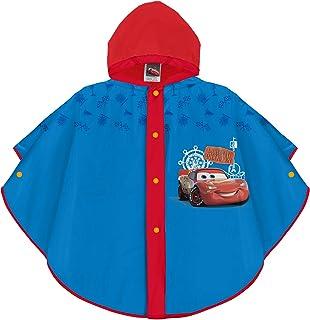 PERLETTI Mantella Pioggia Disney Cars Bimbo - Poncho Impermeabile Saetta McQueen con Cappuccio e Bottoni - Mantellina Anti...