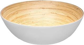Secret de gourmet Saladier bambou Blanc 30 cm