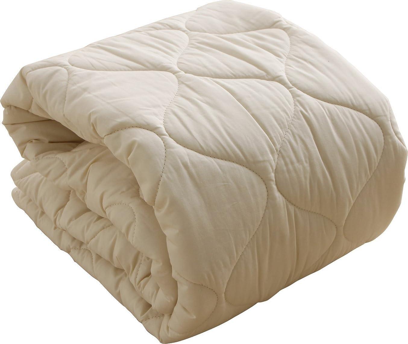 ブラジャー予測子回答ベッドパッド 日本製 フランスプレミアムウール100% 敷きパッド セミダブル