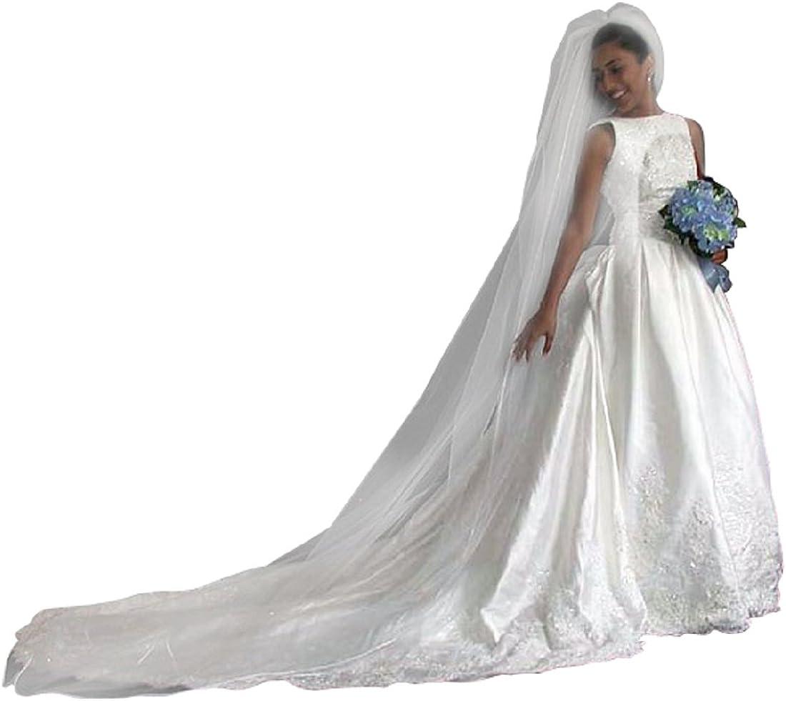 Shop Ginger Wedding 1 Tier Cathedral Swarovski Crystal Rhinestones Bridal Veil