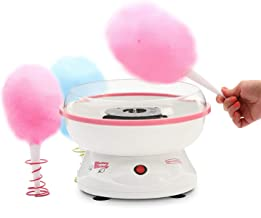 J-JATI Cotton Candy Electric Maker, Hard Candy Maker, Sugar Free Candy Machine family fun In home cotton candy machine White