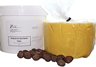Sponsored Ad - Raw Organic Yellow Shea Butter 5LB Pail Clean Ready to Use Bulk Shea Butter Raw African Shea Butter Great f...