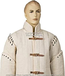 2XL Ecru White Medieval Gambeson Type I Padded Jacket Coat SCA WMA LARP