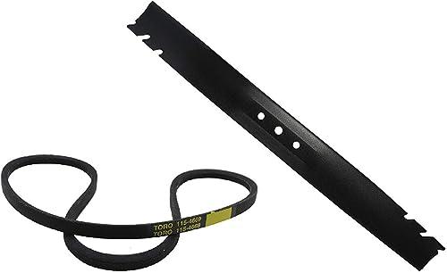 """discount Toro (1) 131-4547-03 Blade sale 22"""" high quality & (1) 115-4669 V-Belt Kit outlet online sale"""