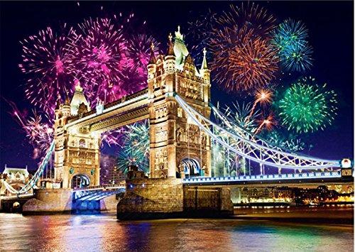 5D-Diamanten-Bild, Set zum Selbermachen, Motiv: Tower Bridge, Wanddekoration zum Selberbasteln, tolle Wohnzimmerdekoration