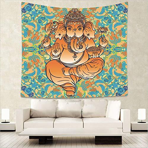 Decoración de Dormitorio Alfombrilla para Yoga Toalla para playaTapiz de Figura de Palma Abstracta de Arte, Tapiz de Manta de Toalla de Playa Budista India-5_El 130x150cm