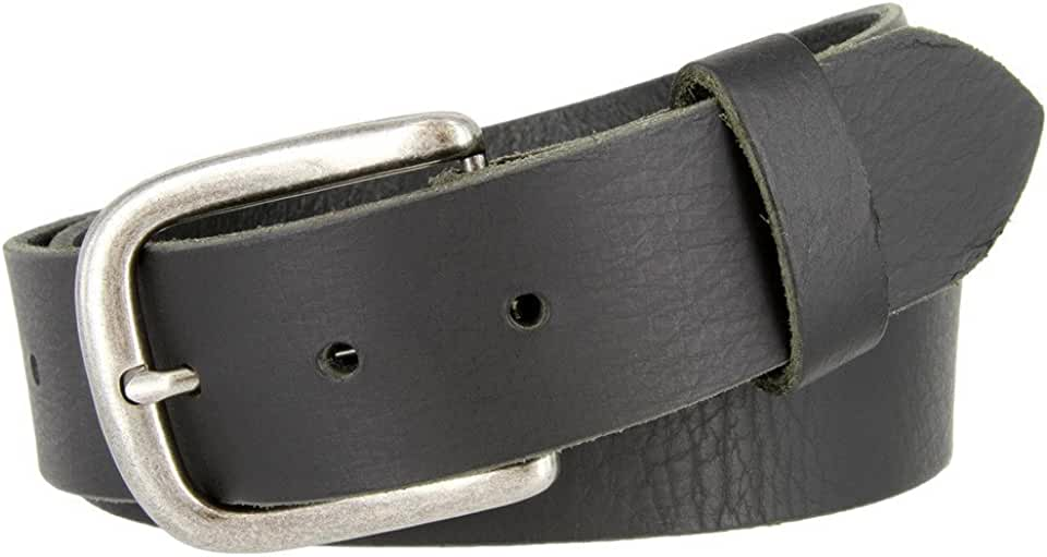 Big and Tall Womens Oil Tanned Solid Leather Belt Black Brown
