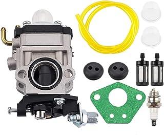 Kizut 300486 Carburetor with Primer Bulb Fuel Filter Tune Up Kit for Earthquake E43 E43CE E43WC Auger MC43 MC43E MC43CE MC...