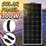 Solar Panel 300W Portable Solar Panel Bendable Solar Power Module Flexible Single Crystal Solar...