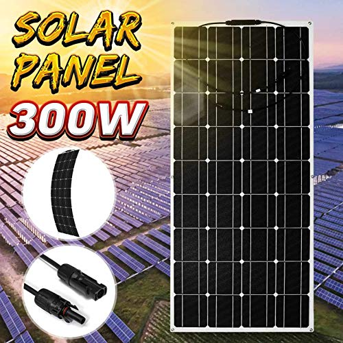 Solar Panel 300W Portable Solar Panel Bendable Solar Power Module Flexible Single Crystal Solar Panel for Camper Van, Boat, House, Garden, Shed Or Farm