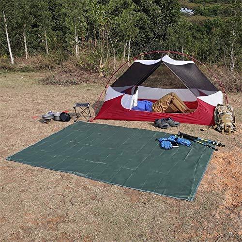 Multifunktions Wasserdichte Camping Boden Plane Picknick Matte Decke Zelt Fußabdruck Und Sonnenschirm Camping Strand Picknick Matte (dunkelgrün)