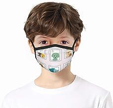zhouyongz Honden in het venster Kids Neck Gaiter Unisex Face Cover Sjaal UV-bescherming Bandana