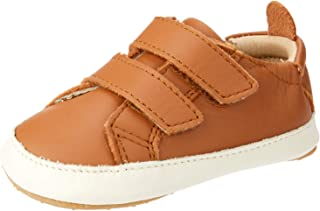 OLD SOLES Baby Boys Bambini Markert Luxurious Pre and First Walker Shoes, Tan/White