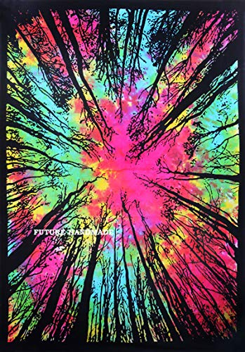 FUTURE HANDMADE Zukunft handgefertigt Mandala Sun Moon Tie Dye Galaxy Star Tapisserie Wand Twin Tapisserie