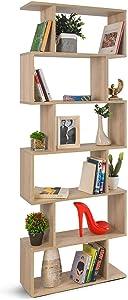 COMIFORT - Scaffale libreria Decorativa Moderna e di Design, Quattro Finiture, Dimensioni: 192 x 70 x 23,5 cm