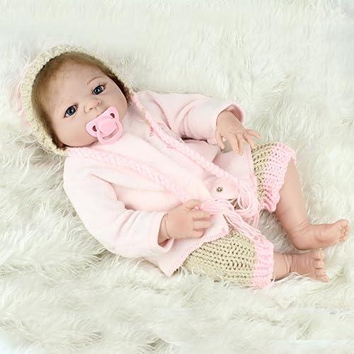 QXMEI 22-Zoll-Kind Wiedergeburt Babypuppe Voller Silikon 55 cm Simulation Puppe Spielzeug Geschenk