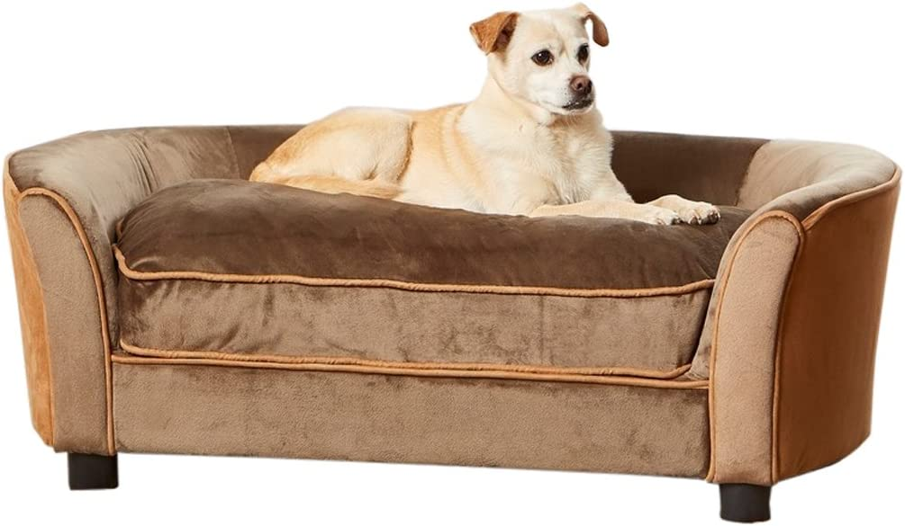 Enchanted Home Pet Ultra Plush Sofa National products Panache Detroit Mall in Mink Brown