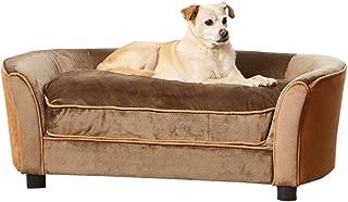 Enchanted Home Pet Mink Brown Ultra Plush Panache Pet Sofa